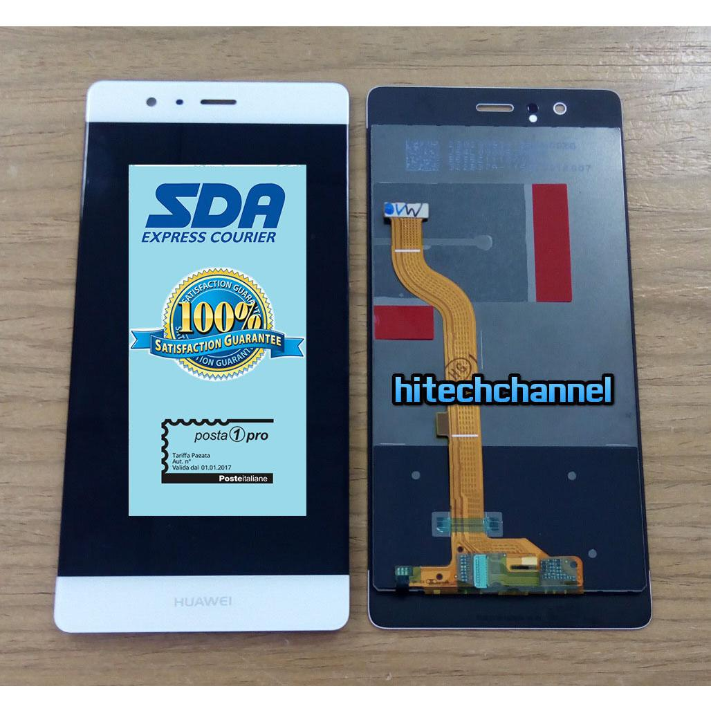 Touch Screen LCD Display Huawei P9 BIANCO +colla B7000 kit 9 in 1 e biadesivo