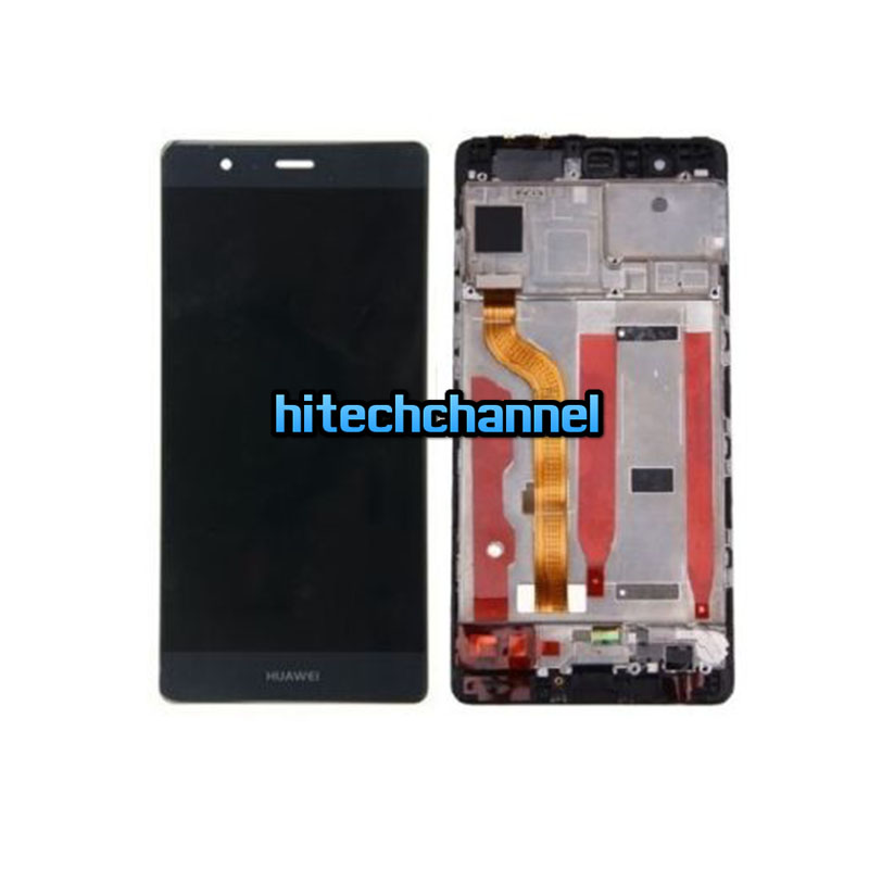 Touch Screen LCD Display con frame Huawei P9 NERO +colla B7000 kit 9 in 1 e biadesivo