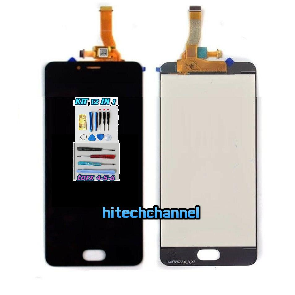 TOUCH SCREEN LCD DISPLAY MEIZU A5 M5C M710H NERO kit 9 in 1 biadesivo