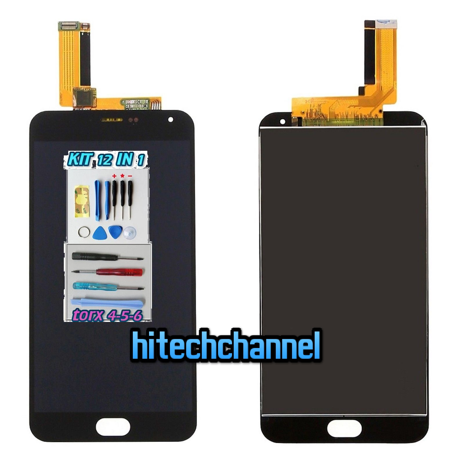 TOUCH SCREEN LCD DISPLAY MEIZU M2 NOTE NERO kit 9 in 1 biadesivo