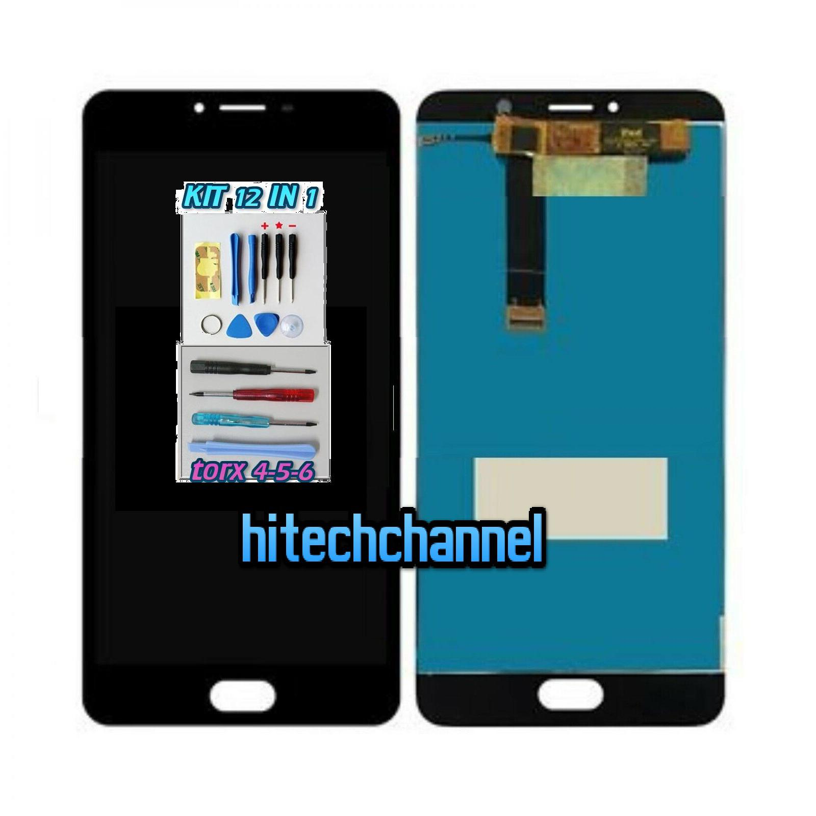 TOUCH SCREEN LCD DISPLAY MEIZU U20 U685H NERO kit 9 in 1 biadesivo