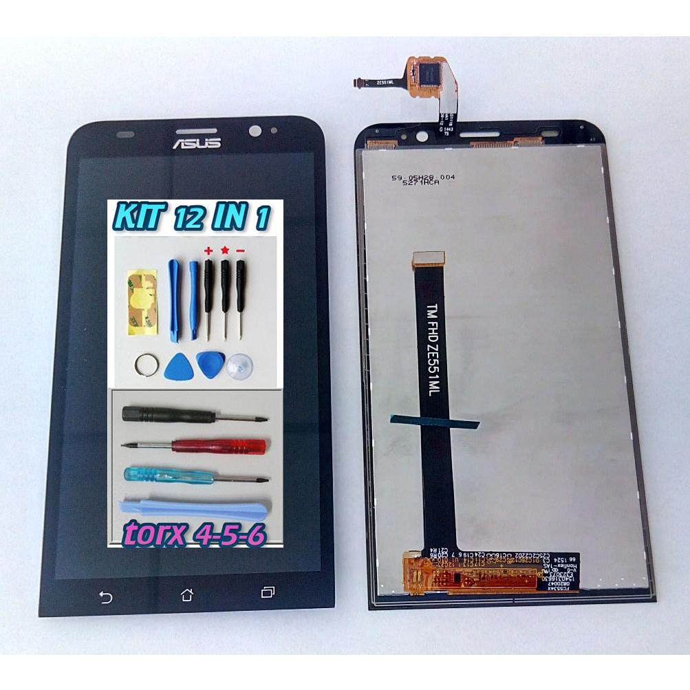 Touch screen lcd display per ASUS ZENFONE 2 ZE551ML Z00AD +kit 12 in 1+biadesivo
