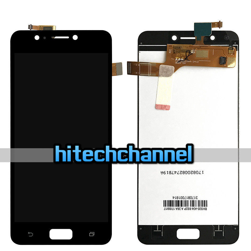 TOUCH SCREEN LCD DISPLAY NERO ASUS ZENFONE 4 MAX ZC520KL X00HD 5.2 biadesivo +kit montaggio
