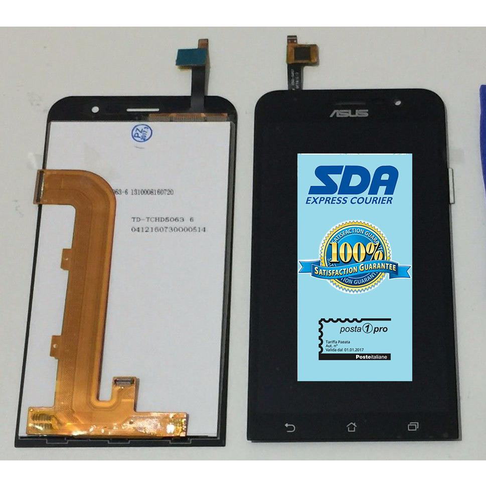 TOUCH SCREEN LCD DISPLAY NERO ASUS ZENFONE GO ZB500KL X00AD + BIADESIVO +kit montaggio