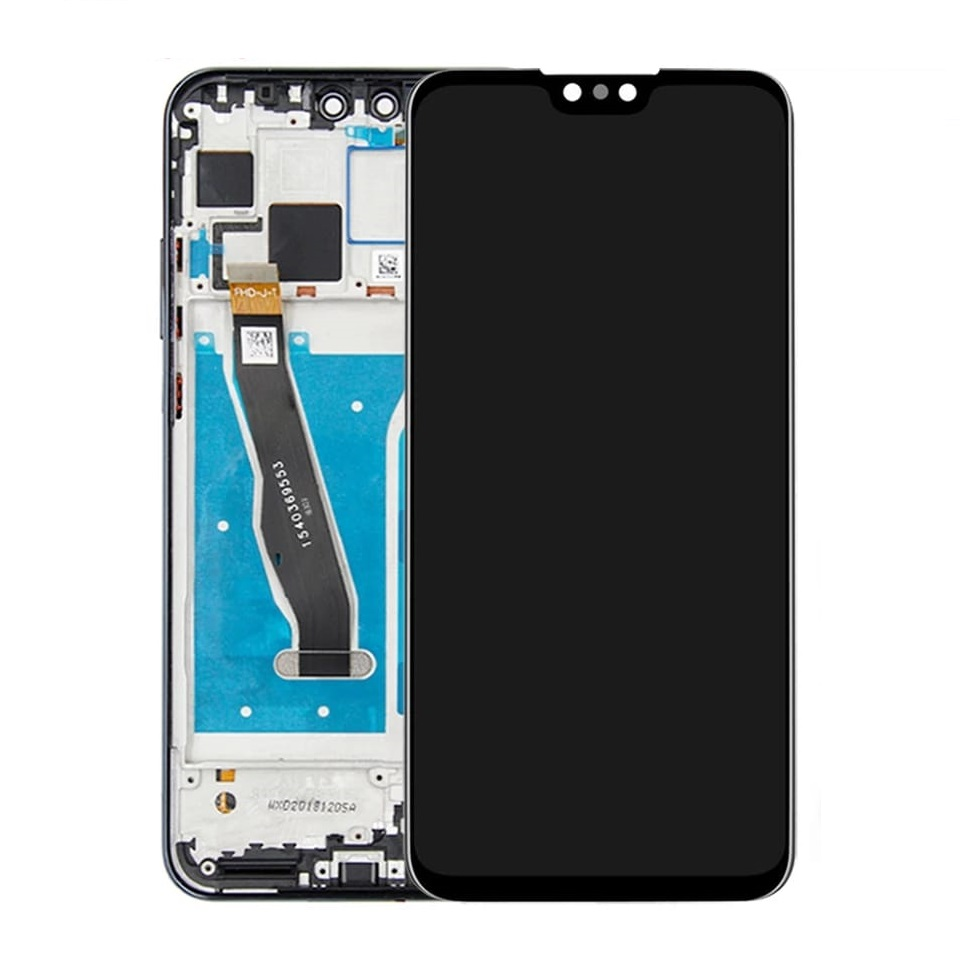 Touch screen lcd display frame nero per huawei Y9 2019 / EENJOY 9 PLUS Y9 2019 JKM-LX1 JKM-LX2 JKM-LX3+kit biadesivo colla b7000