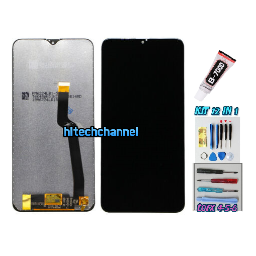 TOUCH SCREEN LCD DISPLAY NERO per Samsung GALAXY A10 2018 SM-A105 SM-A105fn + kit 9 in 1 colla b7000 e biadesivo