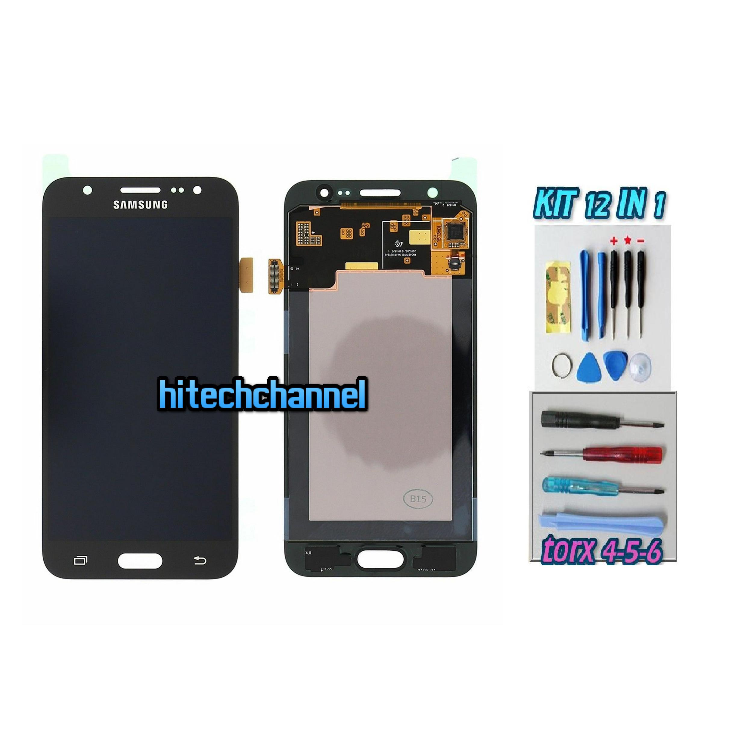 TOUCH SCREEN LCD DISPLAY NERO Samsung Galaxy J5 2015 J500 J500FN + kit 9 in 1 biadesivo e colla b7000