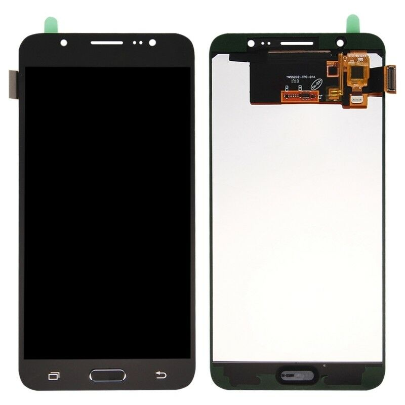 TOUCH SCREEN LCD DISPLAY NERO Samsung Galaxy J7 2016 J710 SM-J710FN + kit 9 in 1 biadesivo e colla B7000