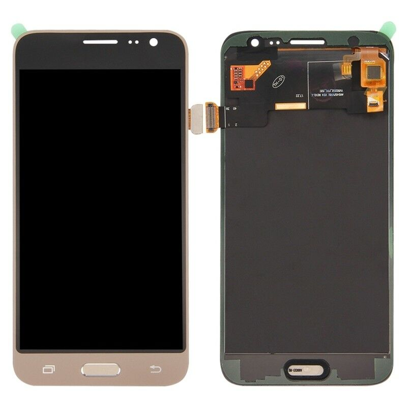 TOUCH SCREEN LCD DISPLAY ORO GOLD Samsung Galaxy J3 2016 J320 SM-J320FN + kit 9 in 1 biadesivo e colla B7000