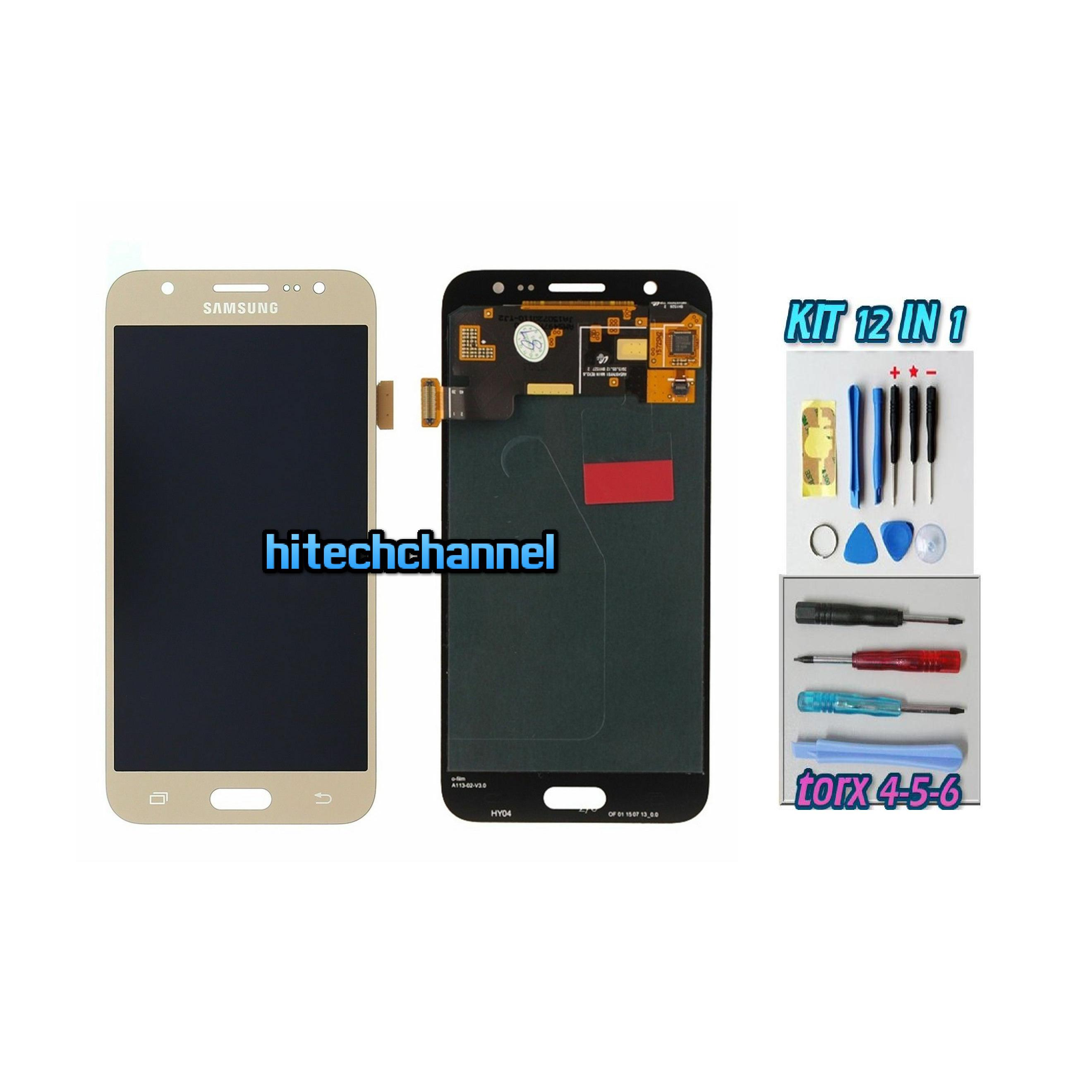 TOUCH SCREEN LCD DISPLAY ORO GOLD Samsung Galaxy J5 2015 J500 J500FN + kit 9 in 1 biadesivo e colla b7000