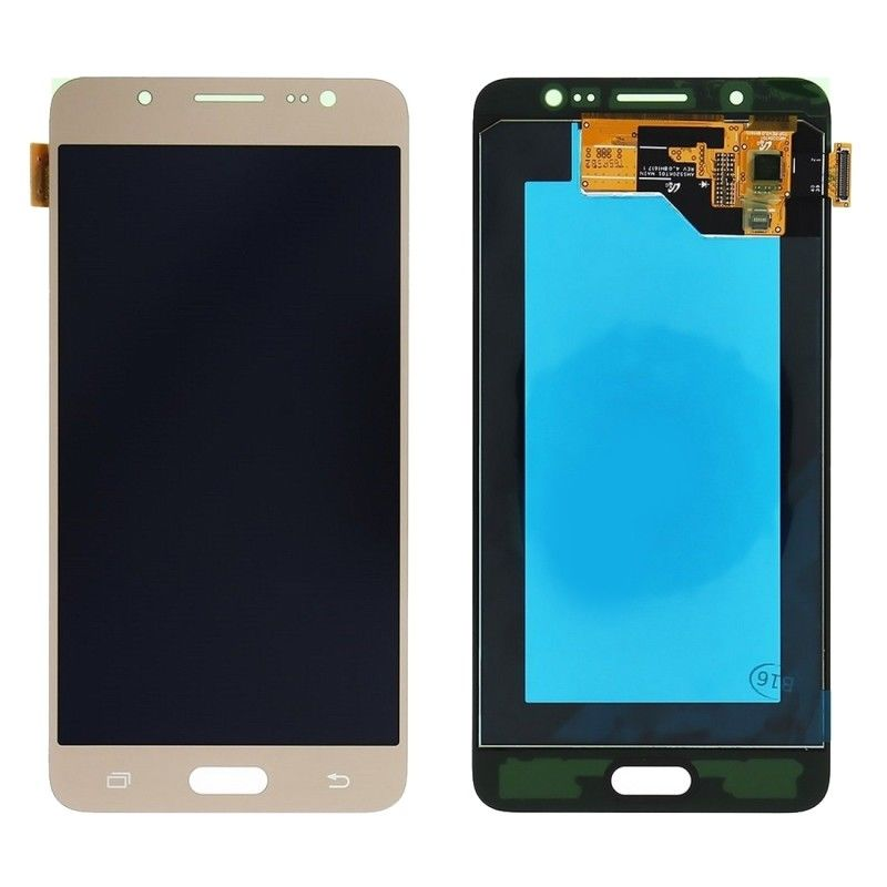 TOUCH SCREEN LCD DISPLAY ORO GOLD Samsung Galaxy J5 2016 SM-J510FN SM-J510FN/DS+kit 9 in 1 biadesivo e colla b7000