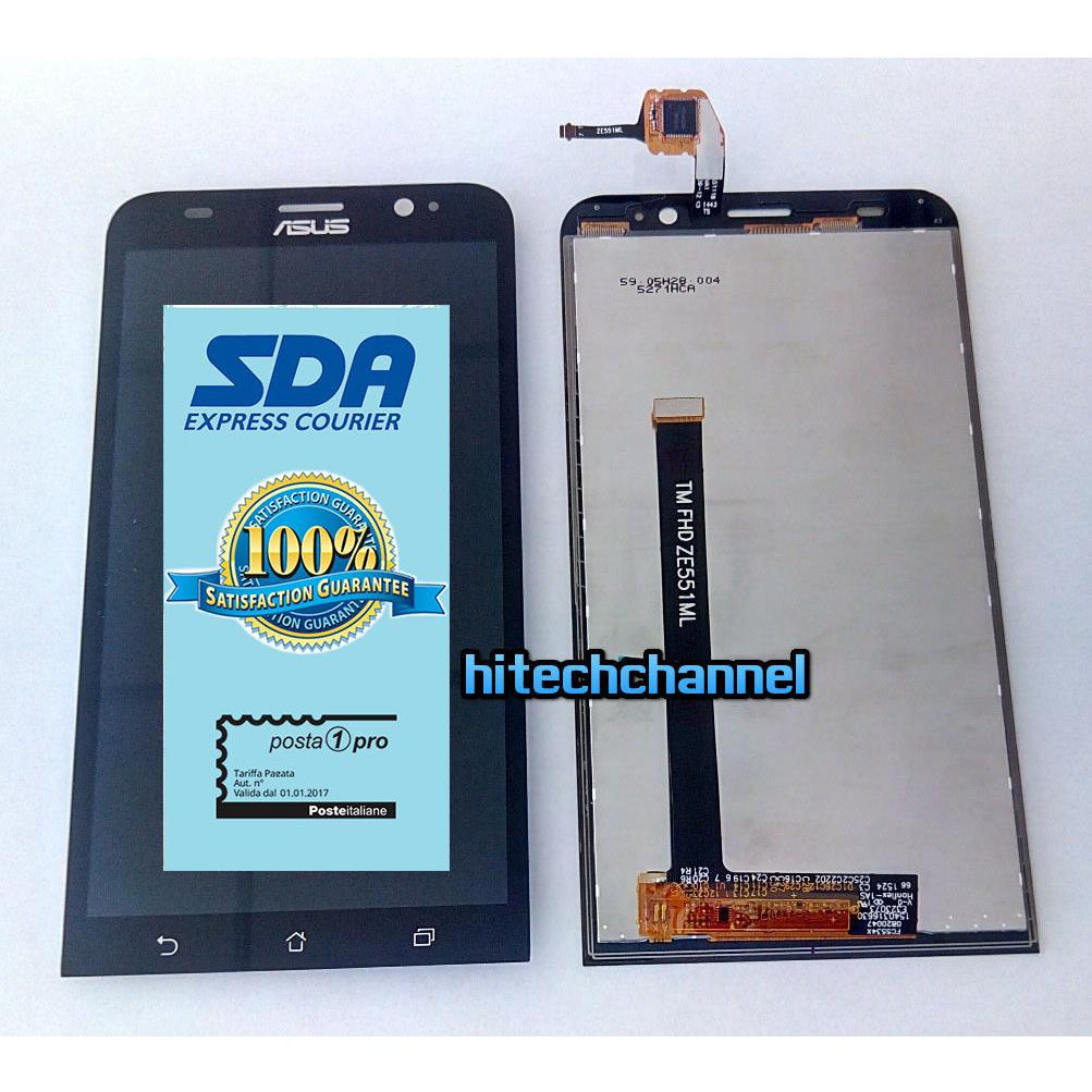 Touch screen lcd display per ASUS ZENFONE 2 ZE551ML ZE551ML DELUXE Z00AD + biadesivo+kit montaggio