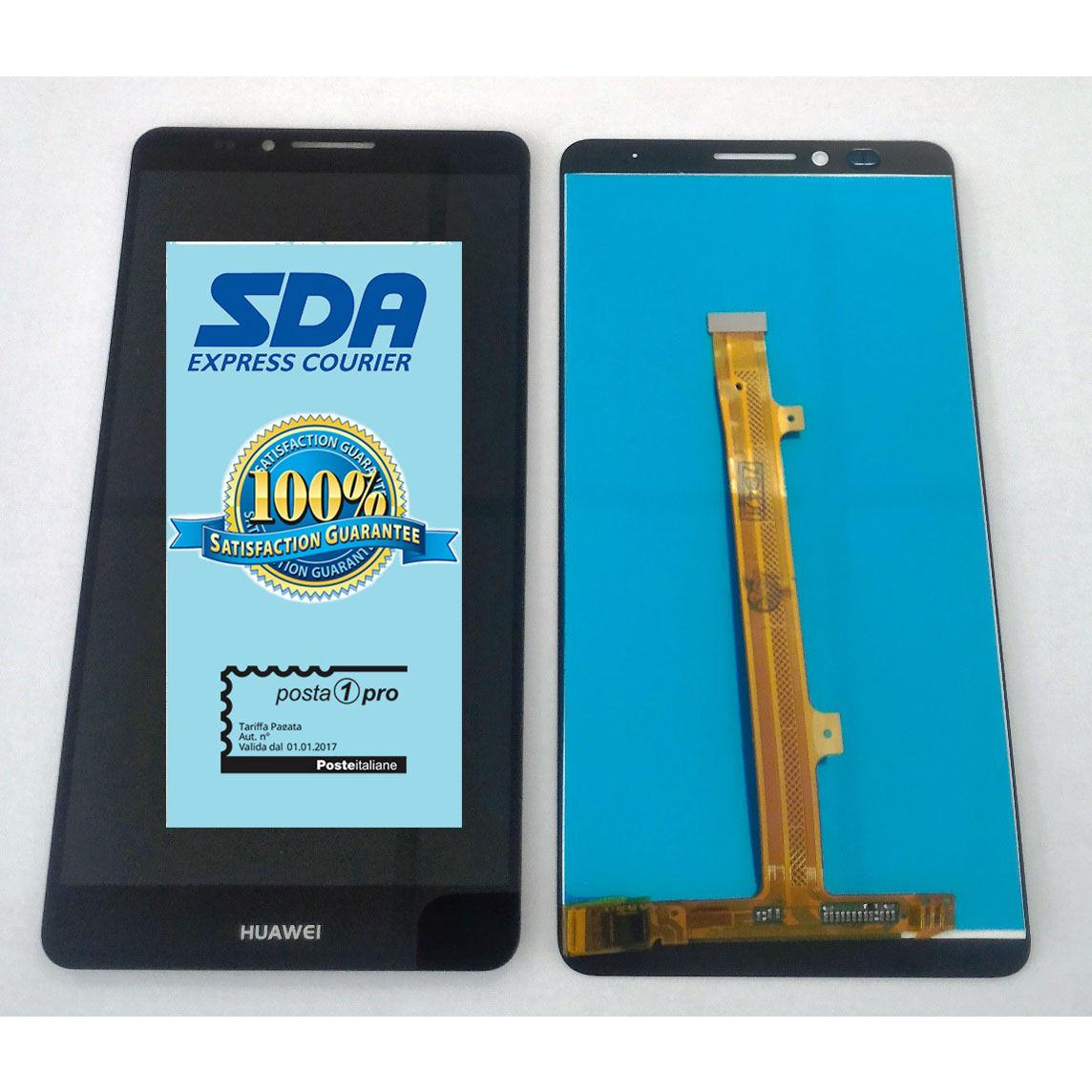 Touch screen lcd display per Huawei Ascend Mate 7 MT7-TL10  nero 6 POLLICI +BIADESIVO