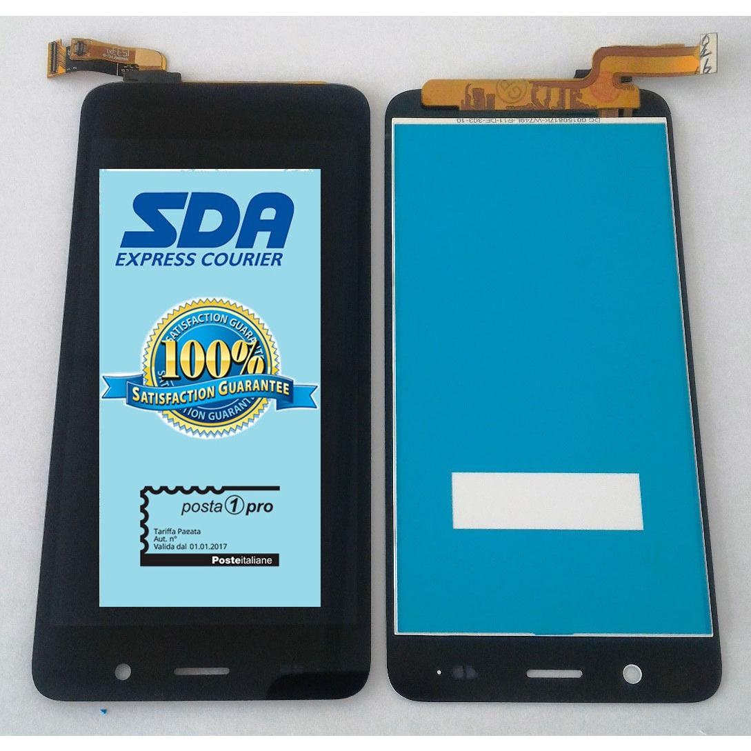 Touch screen lcd display con frame per Huawei P8 nero 5.2 +colla B7000 kit 9 in 1 e biadesivo