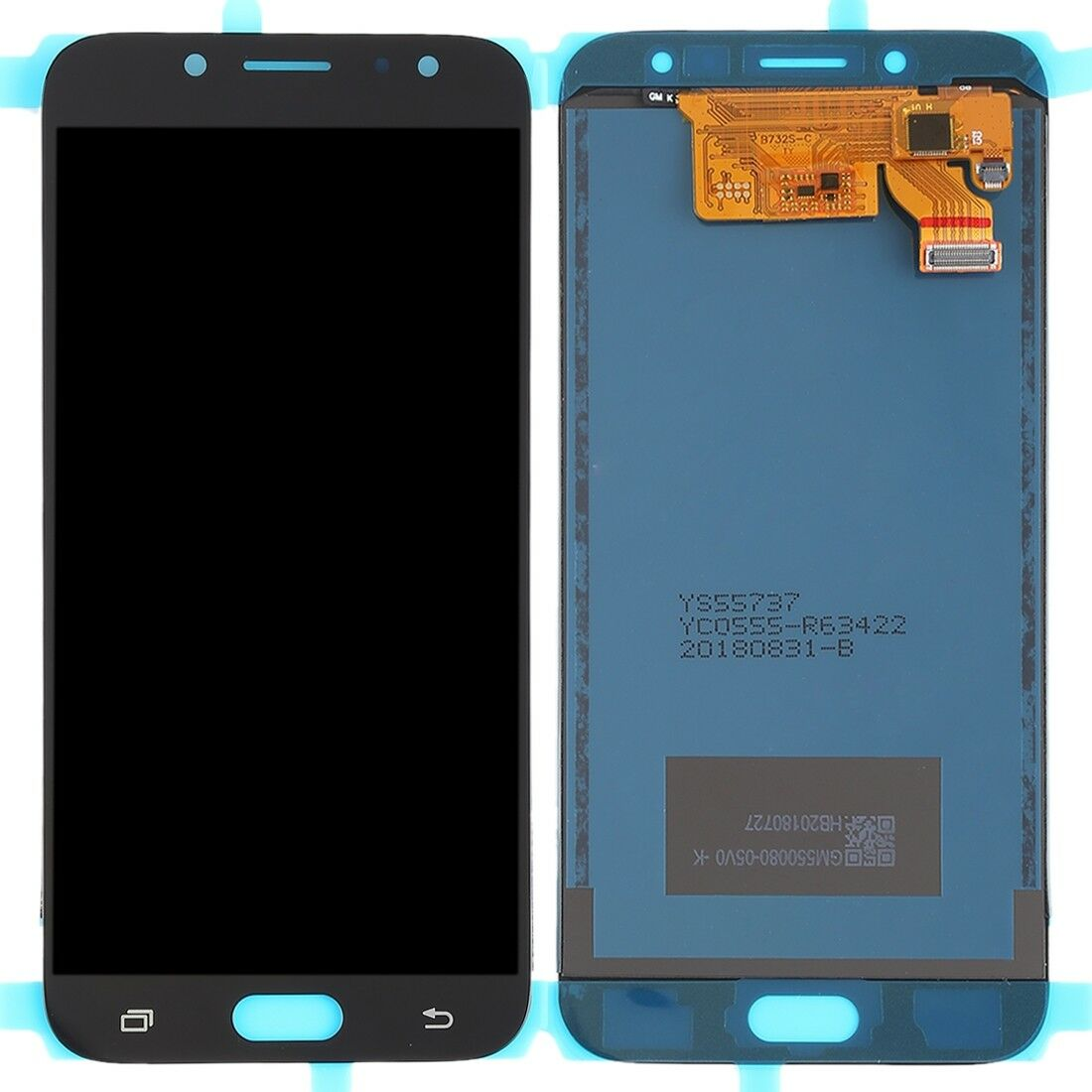 Touch screen lcd display samsung J7 2017 J730 SM-J730F SM-J730F/DS nero +kit smontaggio biadesivo gia' applicato e colla b7000