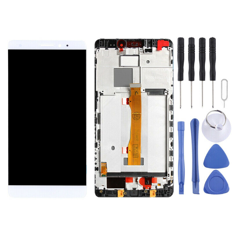 TOUCH SCREEN LCD frame DISPLAY BIANCO HUAWEI MATE S CRR-L09 CRR-UL00 CRR-UL20 +colla B7000 kit 9 in 1 e biadesivo