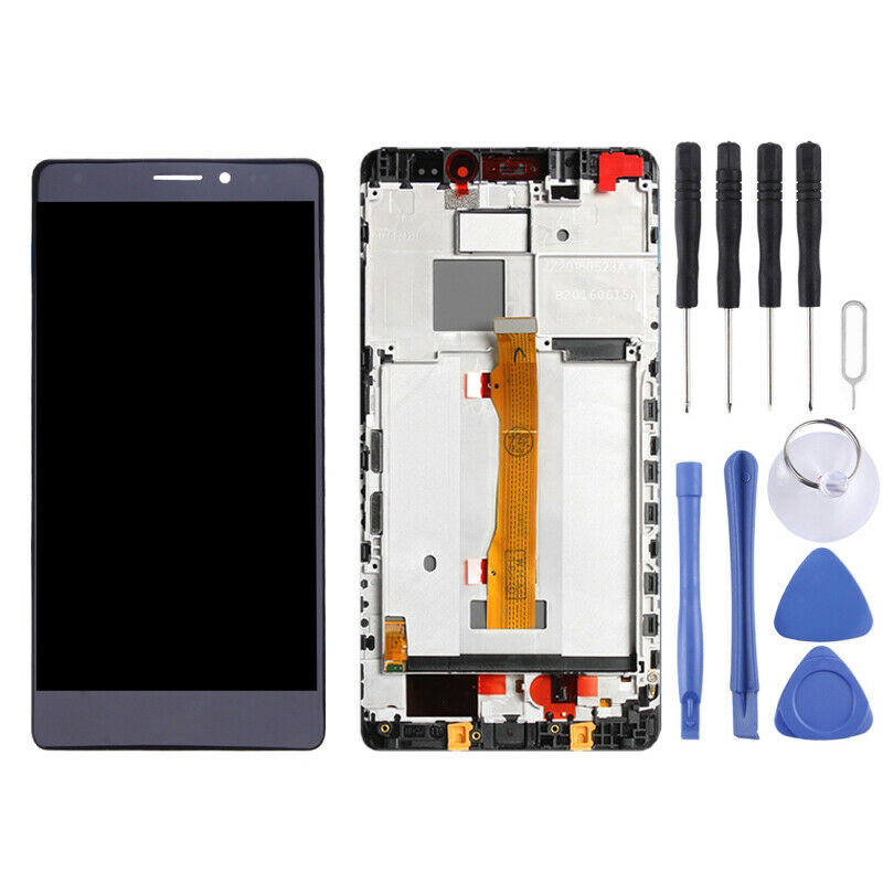 TOUCH SCREEN LCD frame  DISPLAY nero  HUAWEI MATE S CRR-L09 CRR-UL00 CRR-UL20 +colla B7000 kit 9 in 1 e biadesivo