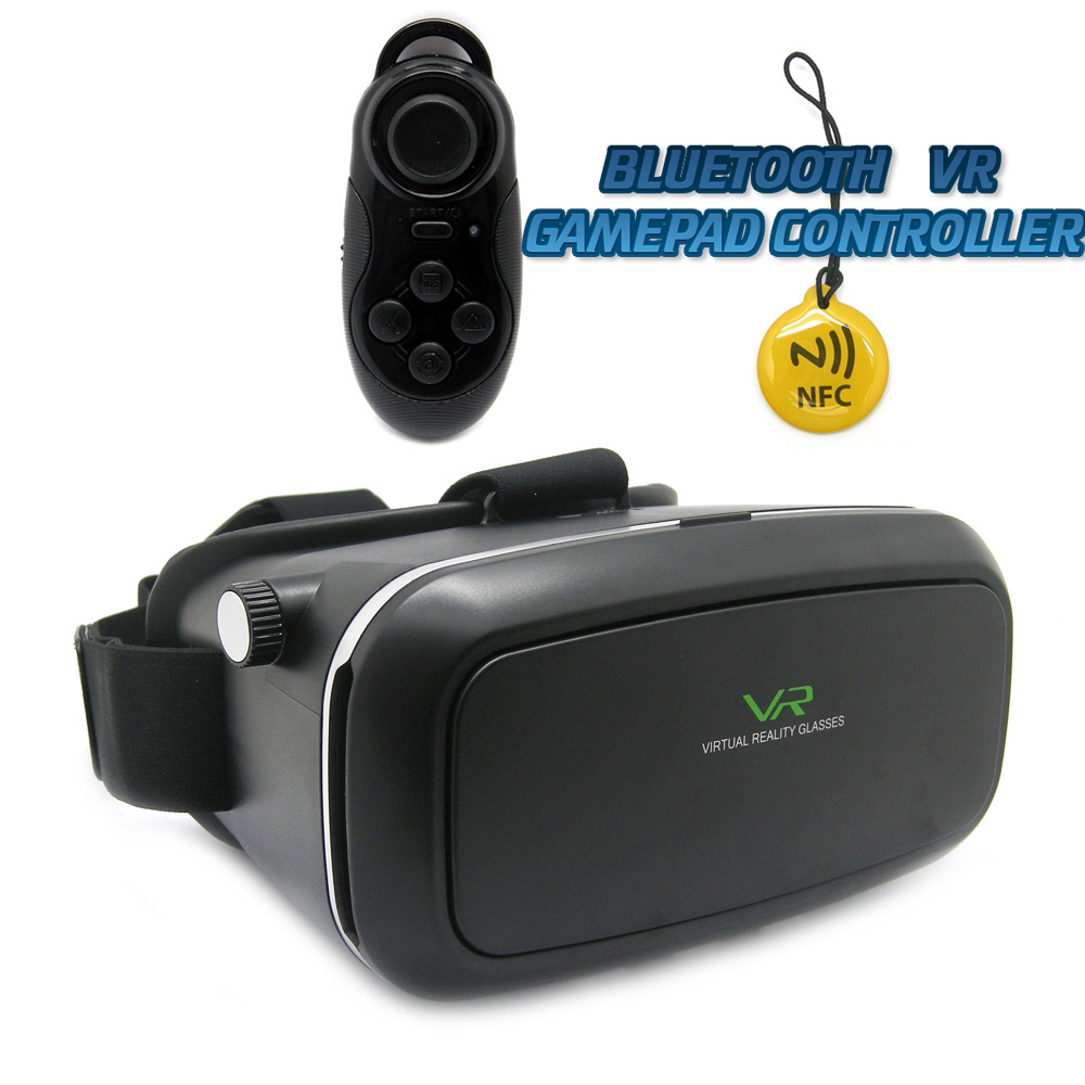 Kit Virtual Reality Glasses VR occhiali realta' virtuale 3D universale + bluetooth gamepad controller omaggio