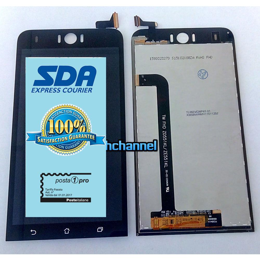 Touch screen lcd display per ASUS Zenfone Selfie 4G ZD551KL ZE551KL Z00UD +biadesivo+kit montaggio
