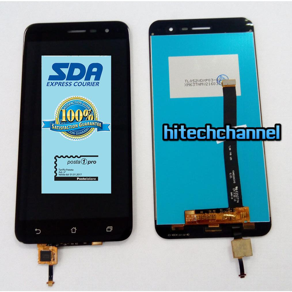 Touch screen vetro lcd display nero per ASUS ZENFONE 3 ZE520KL Z017D Z017DA Z017DB + BIADESIVO+kit montaggio